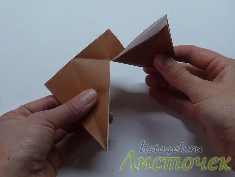 Также разрезаем верхний слой с другой стороны