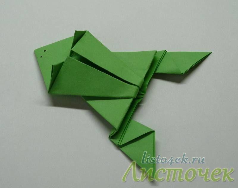 Как сделать прыгающую лягушку из бумаги