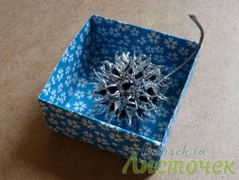 В коробочке из бумаги можно хранить мелкие предметы