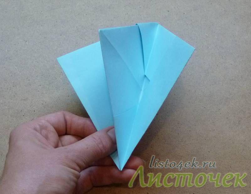 Получаем следующую треугольную фигурку