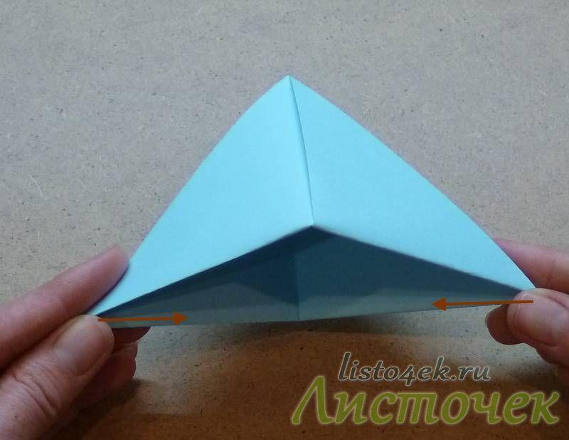 Берем получившийся треугольник за противоположные углы