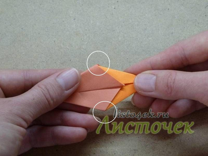 Вставляем модули друг в друга до упора, пока не соединятся уголки