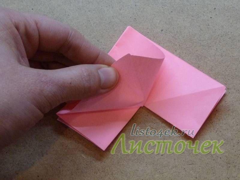 Совмещаем уголок (1) с углом (2)