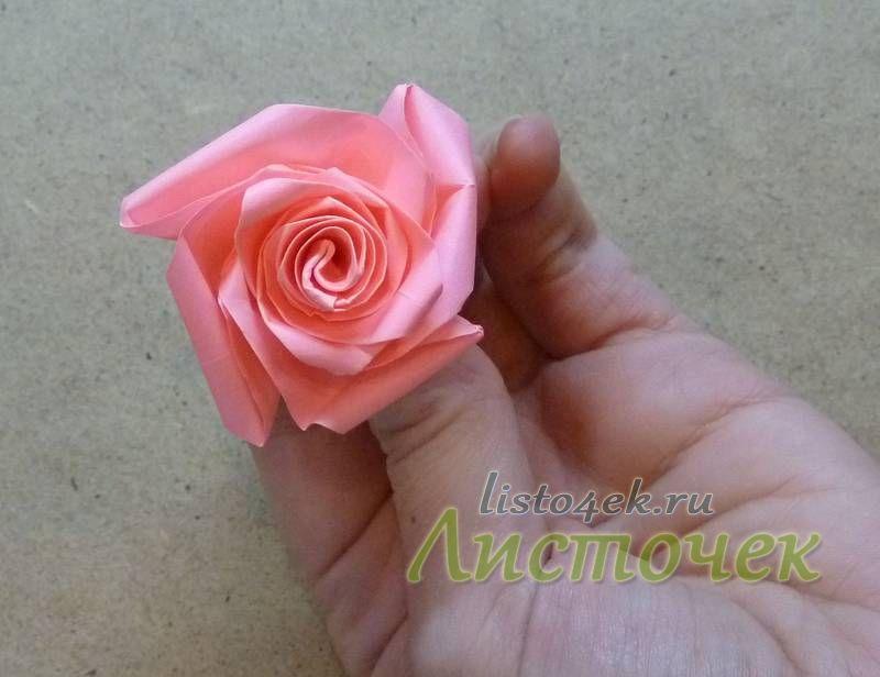 Окончательно формируем розу