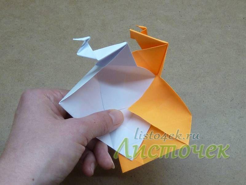 Выравниваем модули, совмещая по верхней линии сгиба