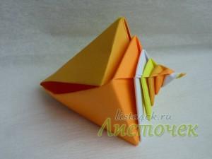 Как сделать ракушку из бумаги (Tomoko Fuse)