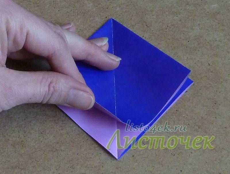 """Полученную основу """"двойной квадрат"""" поворачиваем открытой частью к себе"""