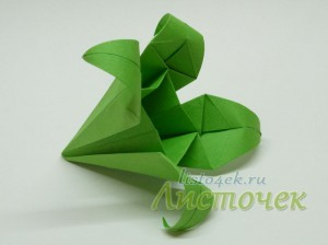 Как сделать чашелистик (зеленый модуль) для лилии