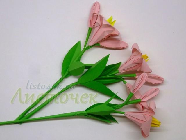Лилии из бумаги своими руками