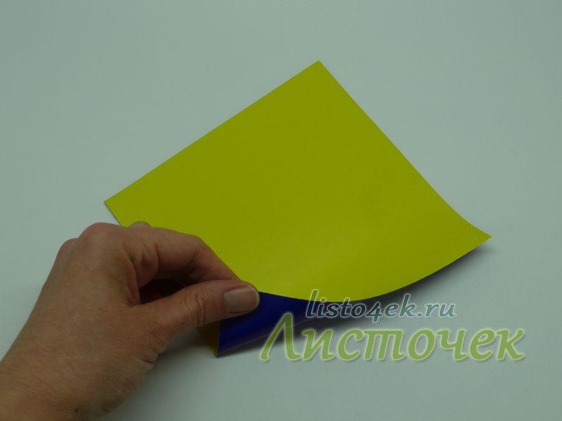 """Для базовой формы (основы) """"треугольник"""" берем квадратный лист бумаги"""