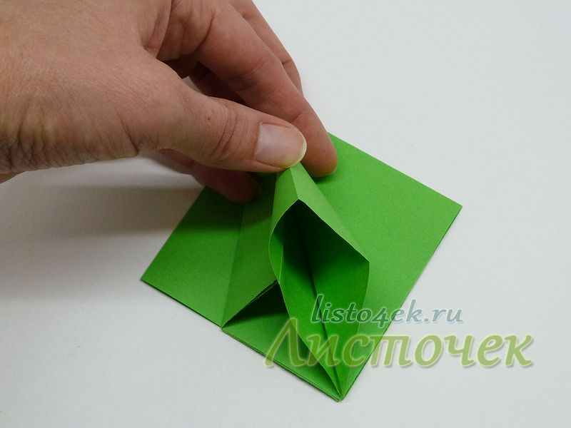 2. Раскрываем правый треугольник