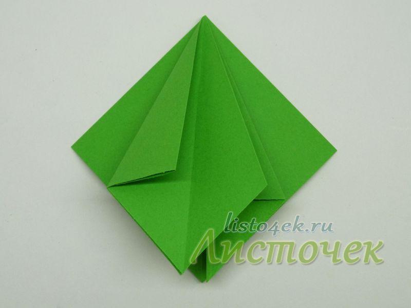 4. Раскрываем левый двойной треугольник