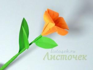 Как сделать стебель для цветка