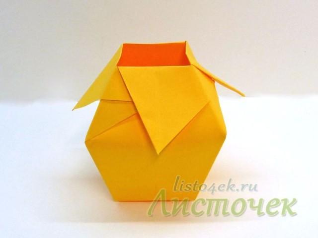 Бумажная ваза готова