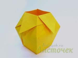 Как сделать вазу из бумаги