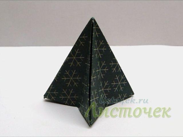 Готовый модуль для елки из бумаги